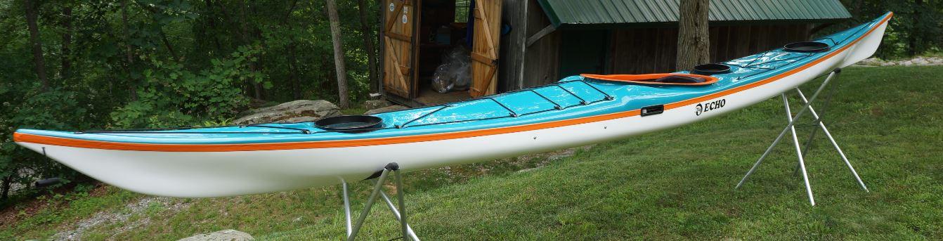 Water Blue / Orange / White.  Wire Skeg.  Standard Layup.